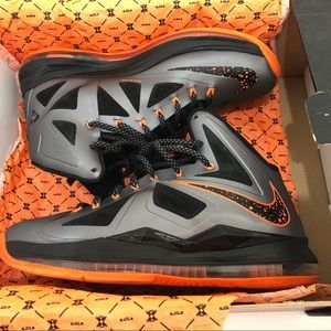 a1c2d20b7f2f Nike Shoes - Nike Lebron X 10 Charcoal Total Orange Black Lava